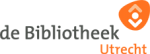 Logo van de bibliotheek Utrecht. Utrecht en een figuur hebben een oranje kleur de woorden de Bibliotheek zijn grijze letters tegen een witte achtergrond. Onder het logo staat in een wit kader de tekst afbeelding bewerken