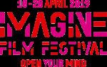 logo imagine filmfestival met rode en roze letters 10-20 april 2019 Imagine Filmfestival Open your mind
