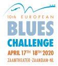 Logo van de 10de editie van European Blues Challenge op 17 en 18 april 2020 Zaantheater Zaandam NL