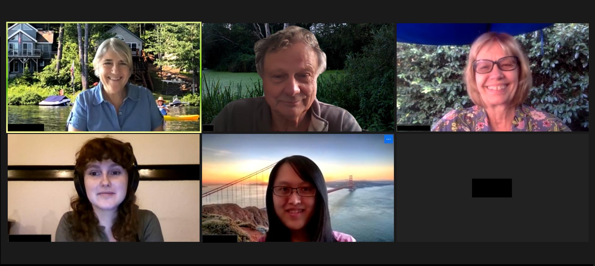 Zoom meeting met collega's van ISEA Symposium Archives