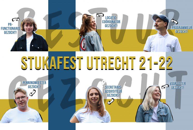 Stukafest Utrecht zoekt nieuwe bestuursleden 2021.